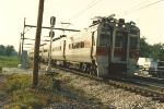 Eastbound homeward commuter train