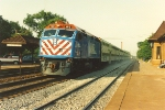 Westbound express kicks up dust