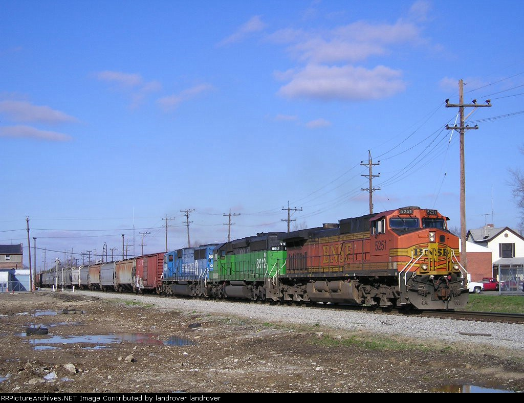 BNSF 5251 On NS 143 Eastbound