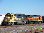 BNSF transfer coupling to train to take back to BNSF yard