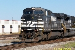 NS 8315 leads Purvis coal train at 32nd st