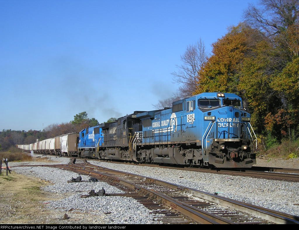 NS 8416 On Eastbound Grainer Southbound