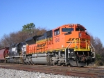 BNSF 9348 On A NS Mixed Bag Southbound
