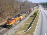 BNSF 5341 On A NS Mixed Bag Northbound