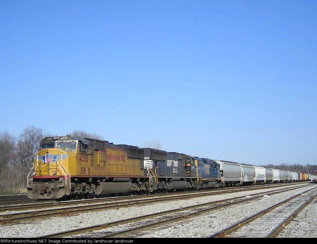 UP 4355 In The Yard At Tillford Facing South