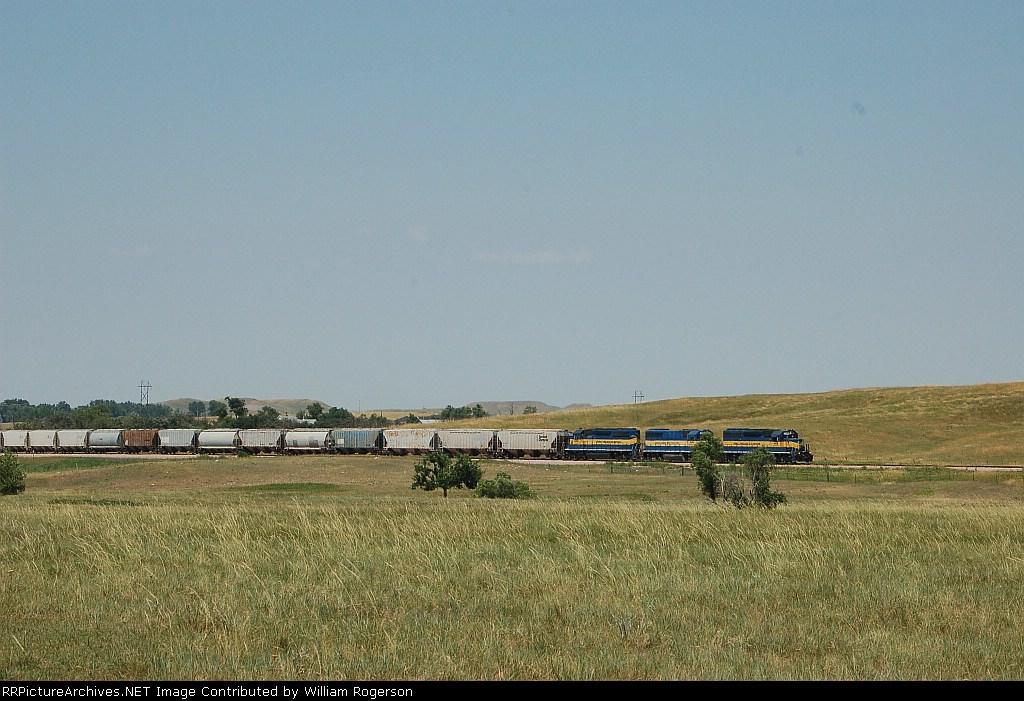 Eastbound Dakota, Minnesota & Eastern Railroad Unit Grain Train