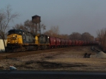 CSX 92 with BNSF hoppers
