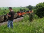 Railfan Matt Hagfors and a coal load