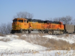 BNSF 9910 and BNSF 6186