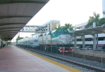 Tri-rail 804 SB on the wrong track due to track work north of station