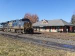 CSX 5344 passing Lake Shore Railway Museum