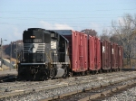 NS 7124 leads Z738/B47 into Wyoming Yard with 6 cars for CSX
