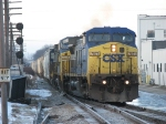 CSX 7871 splits onto Track 1 with Q326-29