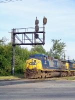 Not too many of the Seaboard style cantilevers around, but CSX 51 looks good under it