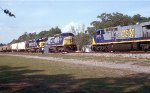 Train meet at Folkston
