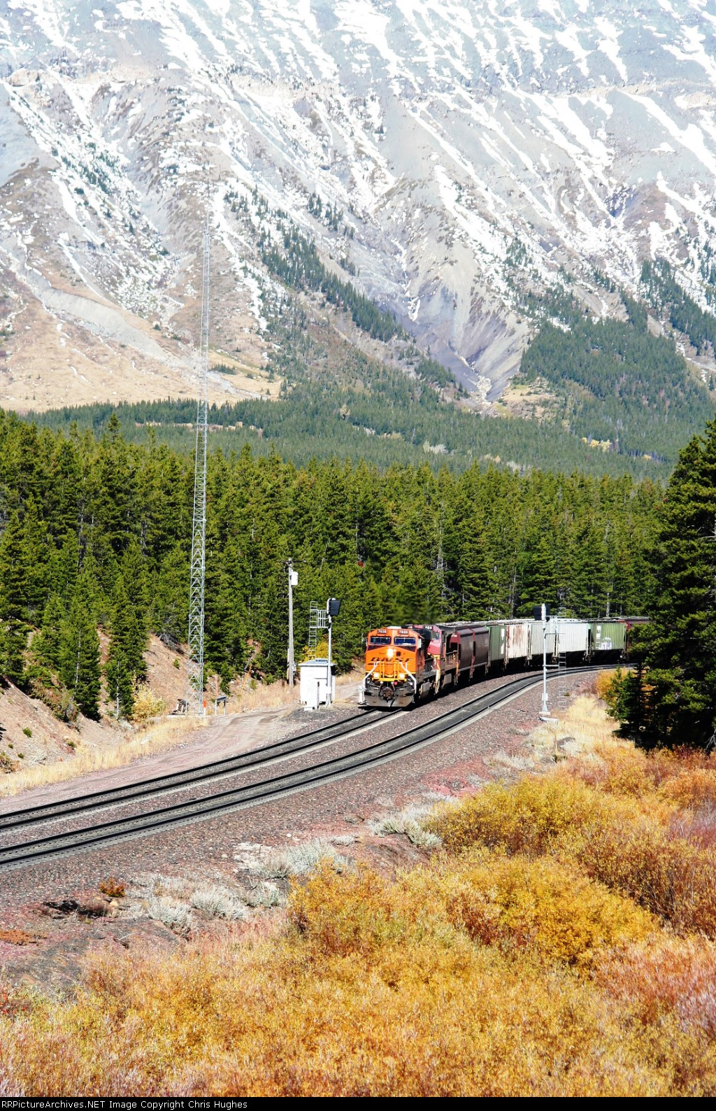Westbound Grain Train makes it's way up the pass