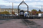 MRL 406 sits near the turntable in Missoula