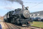 Recently reactivated BR&W #60 runs around its train on a fall November Sunday
