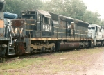 This SD45 awaits  rebuilding by MK. Unit is former VMV, CSX, SCL