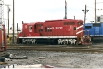 Ex VTR  now BR&W GP-7 enroute to its home, seen at Oak Island's engine facility