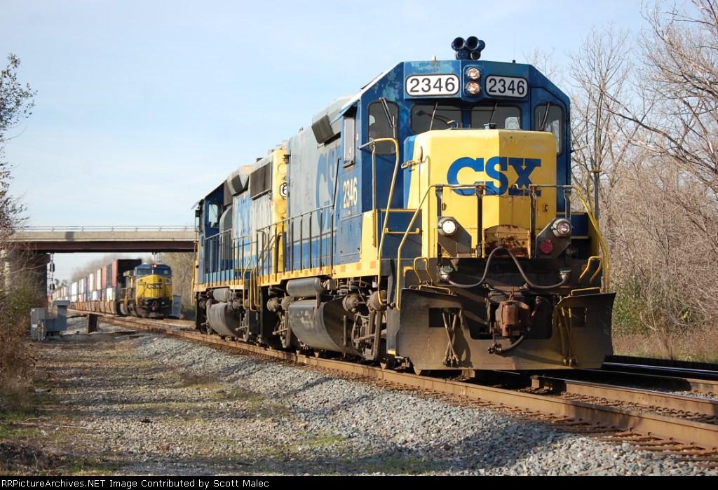 CSX 6418 & 2346