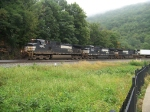 Norfolk Southern 9460, 8968, and 9334 round Horseshoe Curve