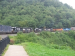 Norfolk Southern each direction at Horseshoe Curve