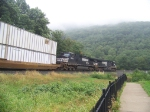 Norfolk Southern 9508 and 9972 at Horseshoe Curve