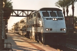 Eastbound Metrolink eases up to stop