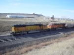 BNSF 9972 and 5800 are a double DPU of wb empties