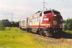 Northbound passenger train