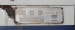 Metrolink 874 ID plate 