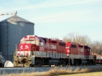 R.J. Corman 3802/3901 back the Aluminum Train into the Memphis Junction Yard 12/22/2008