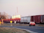 R.J. Corman Aluminum Train has arrived at South Union Distribution Center and blocks the crossing at KY 2349 12/22/2008