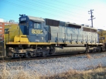 CSX 8395 leading Q210 northbound just past Morgantown Road 12/2009 3:30pm