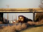 CSX Q525 arrives at Memphis Jct Yard headed by 10 Locomotives at 3:40pm 1/2/2009
