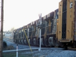 10 Locomotives pull across Memphis Jct Road as Q525 exchanges cars 1/2/2009