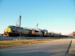 10 Locomotives leading Q525 1/2/2009