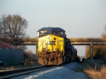 CSX 470 sits on the Main trailed by 9 other locomotives leading Q525 southbound as they pick up cars 1/2/2009