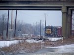 CSX 6921 works in Memphis Jct Yard in snow 1/28/09
