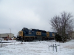 CSX 6921 and CSX 2222 work south of Memphis Jct yard near Heritage Feed and Grain 1/28/09