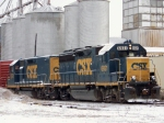 CSX 6921 and CSX 2222 work in snow between the yard and Memphis Jct Road 1/28/09