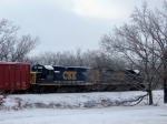 CSX 6921 and CSX 2222 on the former L&N Memphis Line in the snow 1/28/09