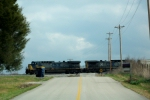 CSX 384 leads a northbound across Dillard Rd.