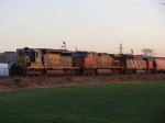 Northbound grain train