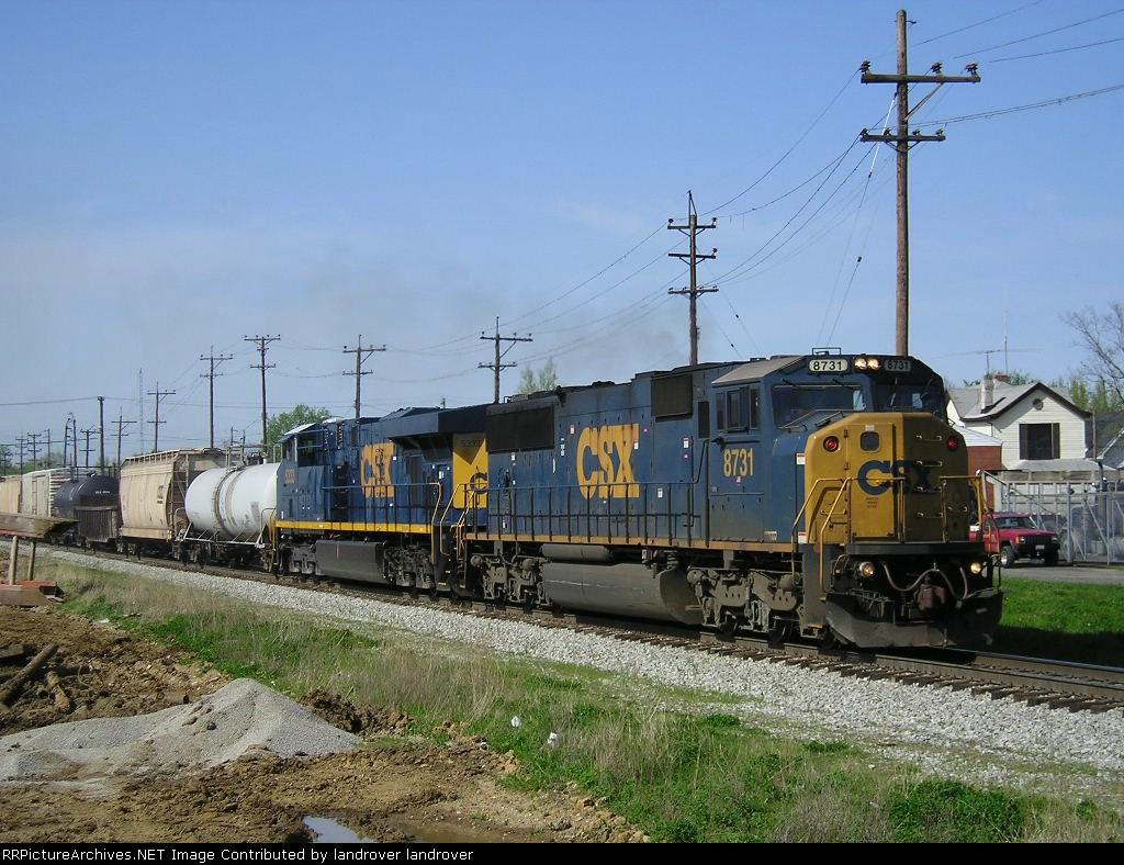 CSXT 8731 On CSX Q 507 Eastbound