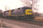 Loaded coal train heading north