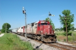 INRD 6009 and 6006 takes 9 cars south to louisville