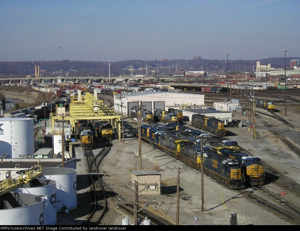 CSXT 5218 On The Fueling Pad At Queensgate Engine House