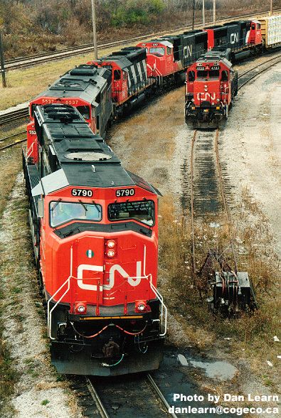 Yarding a freight train